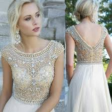 custom size u0026 color hand beaded art deco blouson gown silver