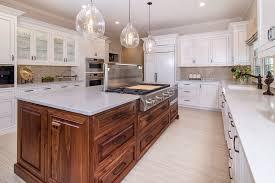 white kitchen cabinets with island designer white custom inset kitchen cabinets with walnut