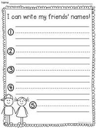 awesome collection of pre k writing name worksheets with