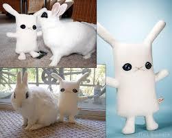 bunny plush hotot bunny plush handmade rabbit stuffed animal blanc de