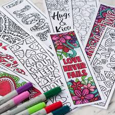 free valentine u0027s day bookmarks set of 4 sarah renae clark