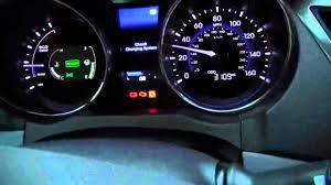 sonata hybrid check charging system problem 2 youtube