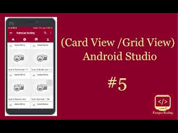 android studio dashboard tutorial android studio tutorial material design grid list cardview youtube