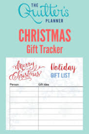free christmas and hanukkah gift tracker printable pages the