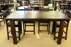 wood counter height table rustic counter height table metal counter height table acme