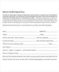 behaviour report template behavior incident report template 14 free pdf format