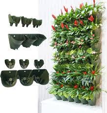 worth garden self watering 1 set 3 pockets vertical wall garden plan