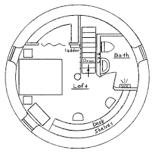 tower house plan earthbag house plans
