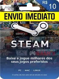 steam 10 gift card steam cartão pré pago r 10 reais de crédito gift card r 9