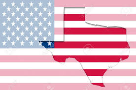 State Flag Of Texas Transparent Outline Map Of Texas On Usa Flag Stock Photo Picture