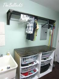 laundry station chic laundry folding table with storage ideas