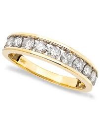 gold diamond band diamond band 1 ct t w in 14k gold gold or white gold
