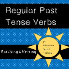 write the pattern of past tense and give exle regular past tense verb matching sentence generation worksheets