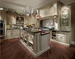 awesome kitchen design with luxury chandelier on top kitchen