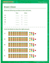 break it down u2013 place value worksheets u2013 math blaster
