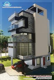 3 floor contemporary narrow home design house design plans