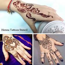 1 set hollow temporary henna tattoo stencils templates simply
