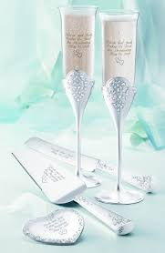 wedding cake server toasting flutes and wedding cake server set from things remembered
