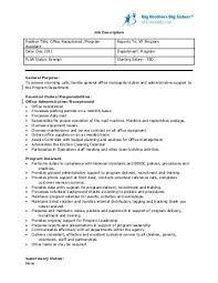 Spa Front Desk Job Description Receptionist Job Description Receptionist Job Description How To
