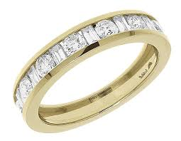 baguette diamond band 14k yellow gold baguette diamond wedding engagement