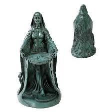 danu celtic goddess resin statue celtic gods fertility