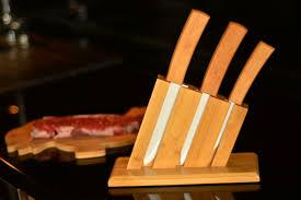 cutlery set with stand vallon u2013 4 pcs knife set with stand u2013 bambum