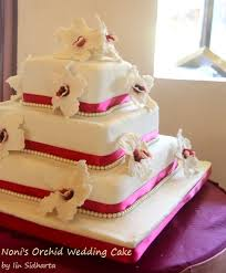 wedding cake surabaya vandya cakes simple orchid wedding cake