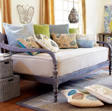 bedroom wooden cheap daybeds with storage and plaid bedding for