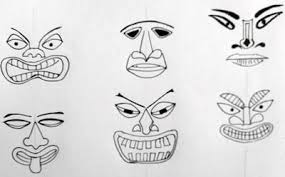 how to draw a tiki head lilcreativekids