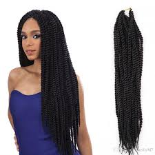 box braids hairstyle human hair or synthtic box braids hair crochet 18 20 crochet hair extensions