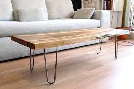 hair pin legs sold live edge solid walnut coffee table on hairpin legs