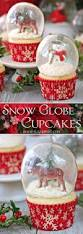 snow globe cupcakes with gelatin bubbles sugarhero