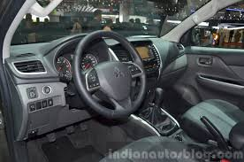 mitsubishi l200 2015 mitsubishi l200 interior at the 2015 geneva motor show indian