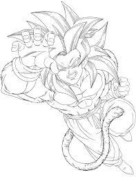 draw dbz goku ssj4 sketch coloring coloring