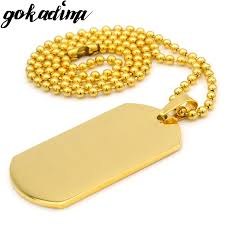 aliexpress buy gokadima 2017 new arrivals jewellery gokadima fashion gold color stainless steel dog tag