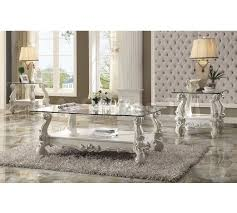 coffee side u0026 end tables versailles 3 pc clear glass coffee