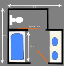 visual guide bathroom floor plans pocket doors soaking visual guide bathroom floor plans