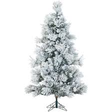 fraser hill farm white 7 5 feet flocked snowy pine christmas tree