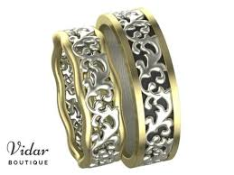 unique matching wedding bands his and hers unique matching wedding bands vidar boutique