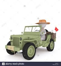 jeep safari truck retro off road safari vehicle driven by faceless cartoon man in