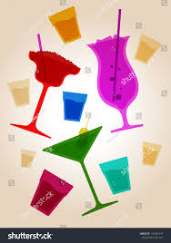 cocktail party drinks stock vector 147281915 shutterstock