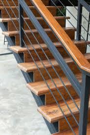 wood and black iron stair railing cabin loft pinterest iron