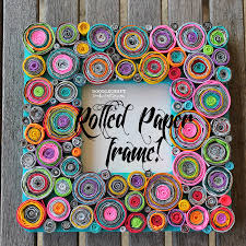 Recycled Crafts For Home Decor Upcycled Rolled Paper Frame This Frame Is Visually Stunning With