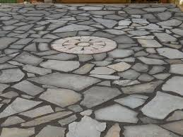 Flagstone Patio On Concrete by Flagstone Patio With Stonedust Hometalk