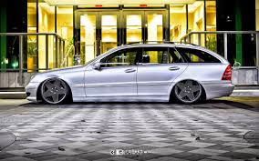 bagged mercedes s class mercedes benz s203 wagon on k3projekt 5sg wheels benztuning