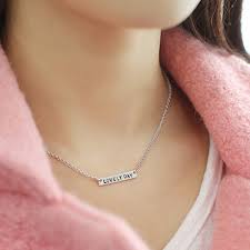 cheap name necklaces wholesale sterling silver mini bar necklace personalized engraved
