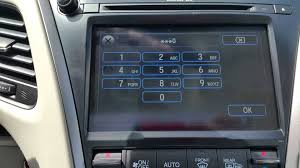 2014 Acura Rlx Radio How To Activate Valet Mode In The 2015 Acura Rlx Youtube