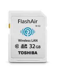 toshiba flash air ii wireless 32gb sdhc memory card pfw032u 1bcw
