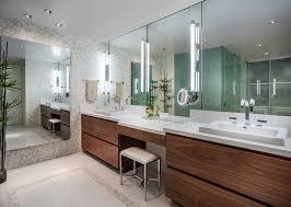 Modern Bathroom Sink Cabinet Fascinating Modern Bathroom Sink Cabinet With Large Mirror