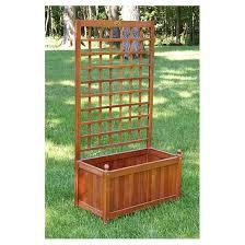 wooden flower box garden trellis 234987 decorative